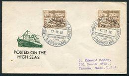 1938 Germany Seepost Hamburg-Amerika Linie Ship Cover DEUTSCHLAND. - Allemagne