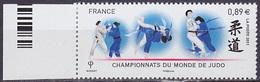Timbre Neuf ** N° 4574(Yvert) France 2011 - Championnats Du Monde De Judo - France