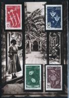 Marocco 1953 Y.T. 320/22+A Maximum Card VF/F - Lettres & Documents