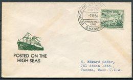 1938 Germany Seepost Hamburg-Amerika Linie Ship Cover HANSA - Allemagne