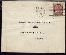 ALLEMAGNE - 1922 - Affranchissement à 4 M. Deutsches Reich, Sur Enveloppe De Koln Pour Lyon - B/TB - - Covers & Documents