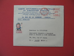 1967  Lettre à Entête Comité Antituberculeux D'Entr'aide Et D'Education Sanitaire  Avec Vignette Correspondante - Antituberculeux
