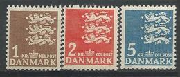 Danemark 1946 N° 304/306 Neufs** MNH Armoiries - 1913-47 (Christian X)