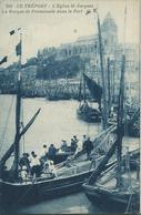 76)  LE  TREPORT  -  L'  Eglise St. Jacques - La Barque De Promenade Dans Le Port - Le Treport