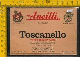 Etichetta Vino Liquore Toscanello Rosso Ancilli-Poggibonsi SI - Etichette