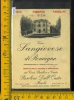 Etichetta Vino Liquore Sangiovese Di Romagna 1970 Montericco-Imola - Etichette