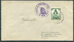 1936 Germany Seepost Hamburg-Amerika Linie Ship Cover NEW YORK - Allemagne