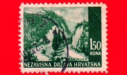 CROAZIA - HRVATSKA - Usato - 1941 - Panorama Di Zelenjak - 1.50 - Croazia