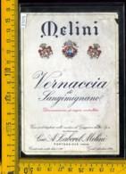 Etichetta Vino Liquore Vernaccia Di S.Gimignano Melini-Pontassieve FI - Etichette