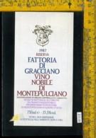 Etichetta Vino Liquore Nobile Di Montepulciano 1987 - Etichette