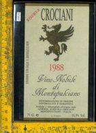 Etichetta Vino Liquore Nobile Di Montepulciano 1988-Crociani - Etichette