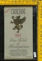 Etichetta Vino Liquore Nobile Di Montepulciano 1987-Crociani - Etichette