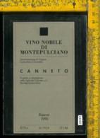 Etichetta Vino Liquore Nobile Di Montepulciano 1990-Canneto - Etichette