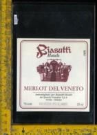 Etichetta Vino Liquore Merlot Del Veneto Biasutti Hotels-Sona VR - Etichette