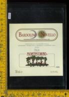 Etichetta Vino Liquore Bardolino Novello Montecorno-Sona VR - Etichette