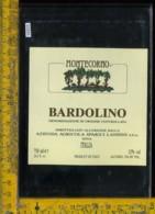 Etichetta Vino Liquore Bardolino Montecorno Landini-Sona VR - Etichette