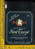 Etichetta Vino Liquore Bianco Pisano Di San Torpè 1991 Crespina-Pisa - Etichette