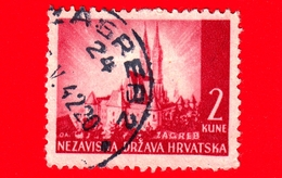 CROAZIA - HRVATSKA - Usato - 1941 - Paesaggi - Cattedrale Di Zagabria - Zagreb  - 2 - Croazia