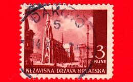 CROAZIA - HRVATSKA - Usato - 1942 - Paesaggi - Chiesa Di Osijek - 3 - Croazia