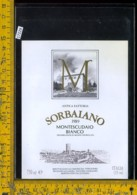 Etichetta Vino Liquore Montescudaio Bianco 1989 Sorbaiano-Montecatini - Etichette
