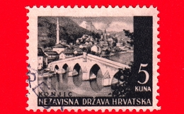 CROAZIA - HRVATSKA - Usato - 1941 - Paesaggi - Ponte A Konjic - 5 - Croazia