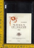 Etichetta Vino Liquore Nuragus Di Cagliari 1992 - Selargius - Etichette