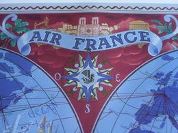 Affiche Air France PLANISPHERE -collection Musée N°A 242 Réédition 1997 -imp. Serag RC PONTOISE -Lucien Boucher Création - Posters