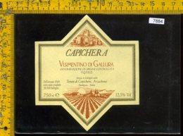 Etichetta Vino Liquore Vermentino Di Gallura Capichera-Sardegna - Etichette