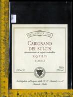 Etichetta Vino Liquore Carignano Del Sulcis Rosso 1989-Santadi - Etichette