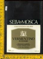 Etichetta Vino Liquore Vermentino Di Alghero Sella&Mosca-Sardegna - Etichette