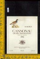 Etichetta Vino Liquore Cannonau Di Decimomannu 1990 Selargius-Sardegna - Etichette