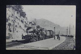 """MONACO - Carte Postale - Monté Carlo -  Le Rapide """" Côte D 'Azur """" En Gare  ( Train Gros Plan ) - L 23102 - Monaco"""