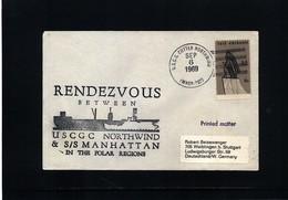 USA 1969 Arctic SS Manhattan + USCGC Northwind Rendezvous - Polare Shiffe & Eisbrecher