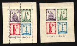 GERMANY #5NB8a #5NB8b FRENCH OCCUPATION ZONE BADEN BLOCK MH ANGEL CATHEDRAL (LB-154) - France