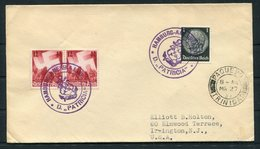 1937 Germany Seepost Hamburg-Amerika Linie Ship Cover PATRICIA. Trinidad Paquebot - Allemagne