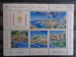 MONACO 1999 FEUILLET Y&T N° 2221 à 2224 ** - REALISATIONS ET PROJETS - Unused Stamps