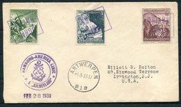 1939 Germany Seepost Hamburg-Amerika Linie Ship Cover KULMERLAND. Antwerp Belgium SCHIP NAVIRE Paquebot WHF - Briefe U. Dokumente