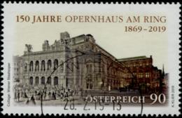 Austria 2019 150 Jahre Opernhaus Am Ring GESTEMPELT/USED/O - 1945-.... 2. Republik