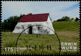 Austria 2019 Erwin Wurm - Fat House  GESTEMPELT/USED/O - 1945-.... 2. Republik