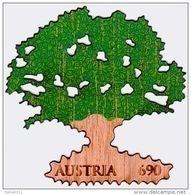 Austria Österreich 2017 Eiche. Komb. Siebdr. Und Laser Auf Holz  MNH / ** / POSTFRISCH - 1945-.... 2. Republik