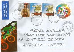 Tour Cycliste De Pologne, Belle Lettre De Pologne, Adressée  Andorra, Avec Timbre à Date Arrivée - Cyclisme