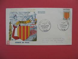 FDC 1955   Comté De Foix - Blason Comté De Foix    Cachet Foix     à Voir - FDC