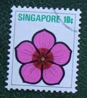 10 C Flower Fleur Blumen Vinca Rosea 1973 Mi 194 Used Gebruikt Oblitere SINGAPORE SINGAPUR - Singapur (1959-...)