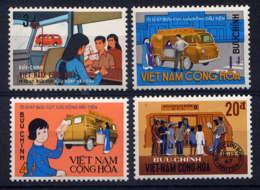 VNS - 355/358** - BUREAU DE POSTE AMBULANT - Viêt-Nam