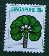 20 C Flower Fleur Blumen Palm 1973 Mi 196 Used Gebruikt Oblitere SINGAPORE SINGAPUR - Singapur (1959-...)