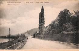 Souverain-Wandre - Rue Des Ecoles Vers Jupille (animée, Edit. Vannevel, Peu Vue) - Luik