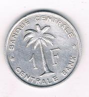 1 FRANC 1959  BELGISCH CONGO /1341/ - Congo (Belgian) & Ruanda-Urundi