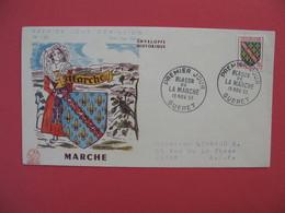 FDC 1955   Marche   - Blason De La Marche    Cachet  Gueret    à Voir - FDC
