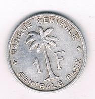1 FRANC 1957  BELGISCH CONGO /1342/ - 1951-1960: Baudouin I