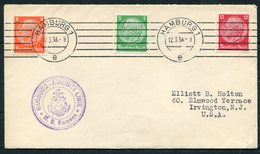 1938 Germany Seepost Hamburg-Amerika Linie Ship Cover MS RAMSES - Allemagne